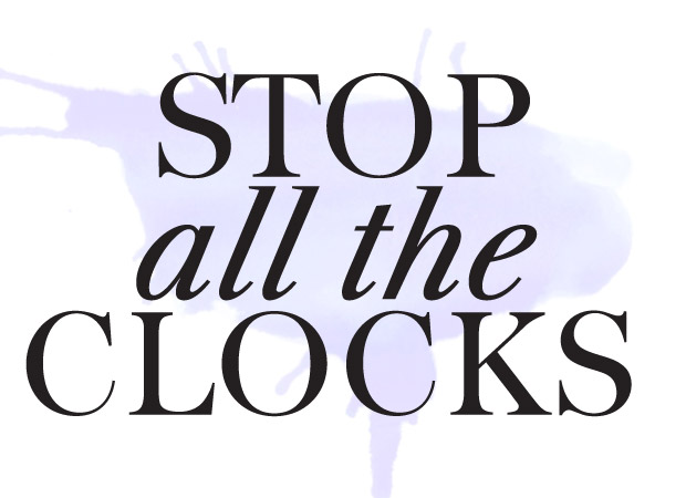 Stop all the clocks essay example